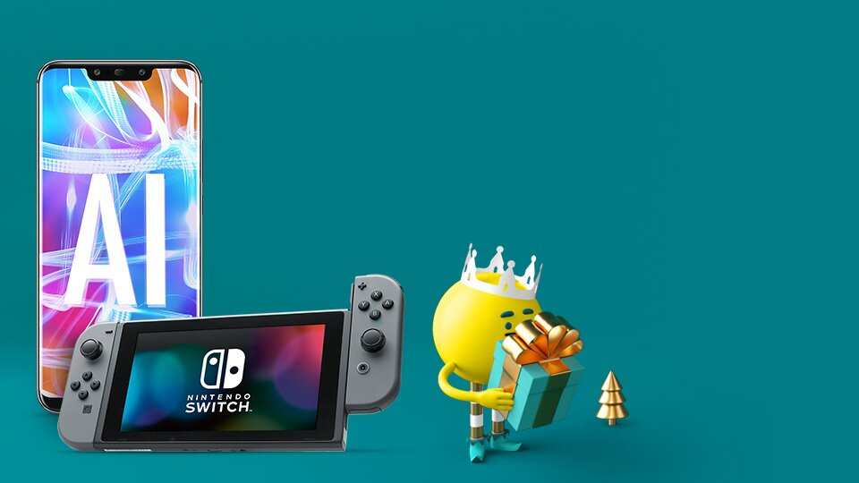 Free Nintendo Switch with Huawei Mate 20 Lite
